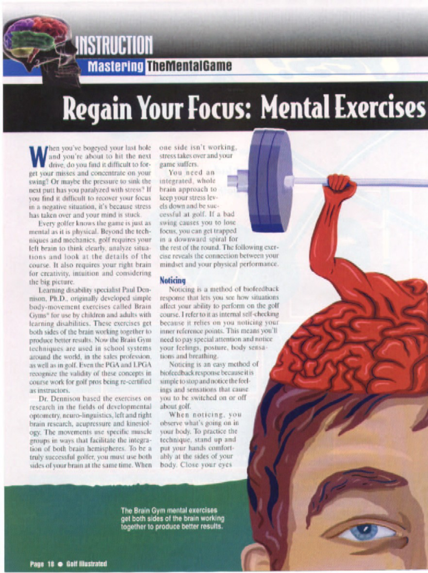 Golf Illustrated Article Pg 1