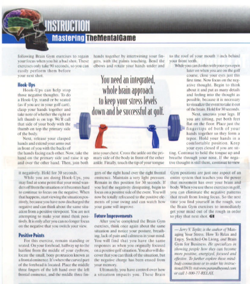 Golf Illustrated Magazine Article Pg3 - May/June 2005